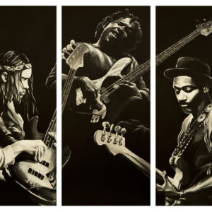 Jaco Pastorius Victor Wooten Marcus Miller Painting by Kevin McHugh Art