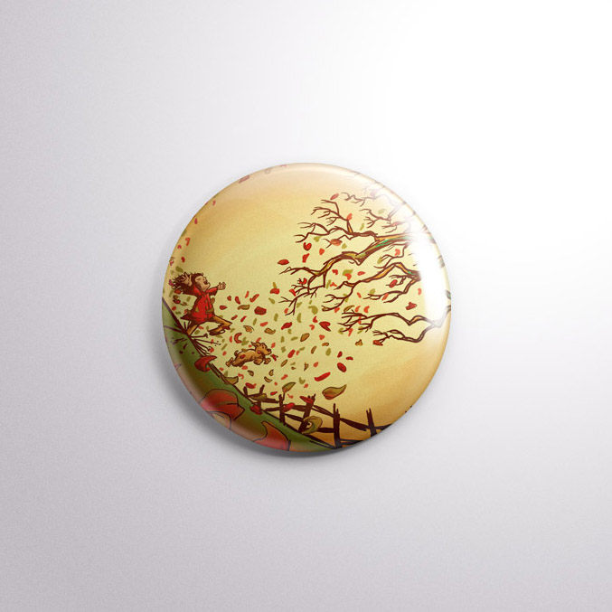 Autumn Has Arrived - Autumn Badge by Kevin McHugh Art