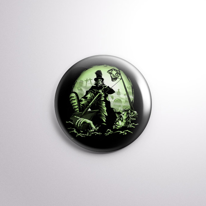 Dead Ringer Zombie Badge by Kevin McHugh Art