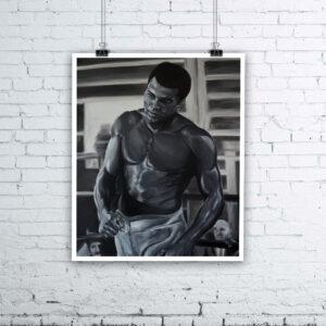 Muhammad Ali Painting by Kevin McHugh Art