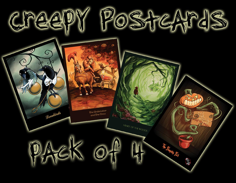 Halloween Postcard Pack from Kevin McHugh Art